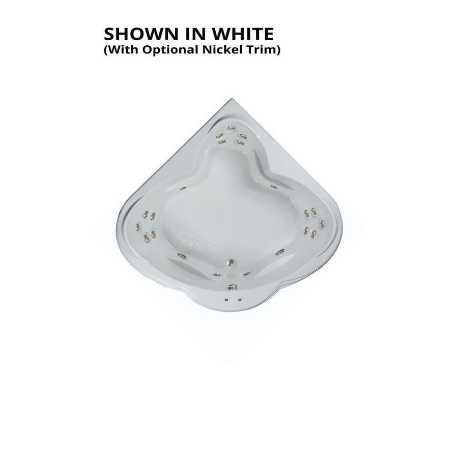 Watertech Whirlpool Baths Warertech 3-Person White Acrylic Corner Whirlpool Tub (Common: 62-in x 62-in; Actual: 23-in x 62-in x 62-in)