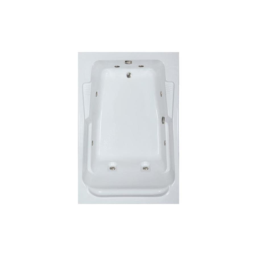 Watertech Whirlpool Baths Designer 2-Person White Acrylic Rectangular Whirlpool Tub (Common: 48-in x 72-in; Actual: 22-in x 48.25-in x 71.75-in)