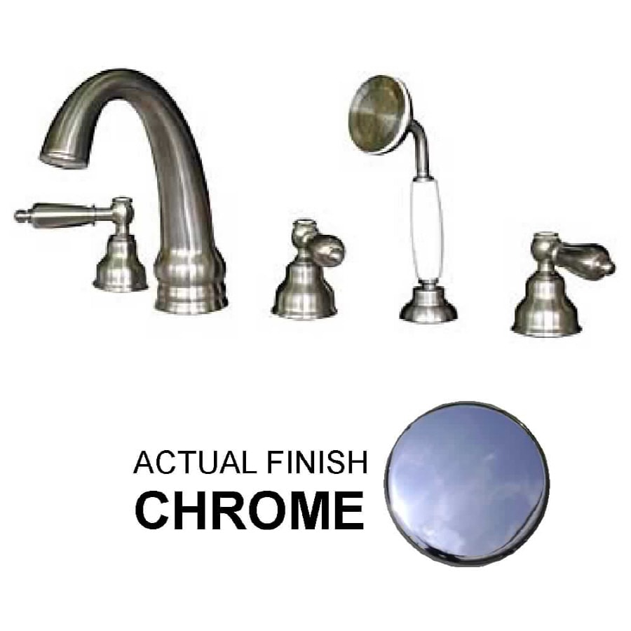 Watertech Whirlpool Baths 5 Piece Chrome Roman Tub Faucet