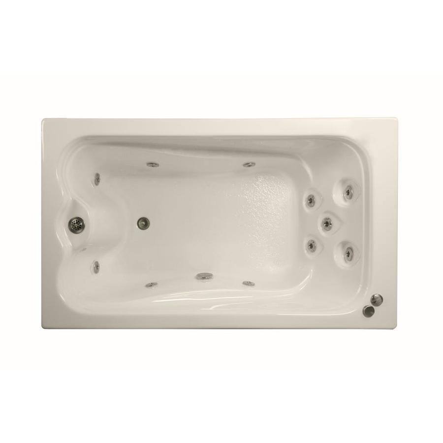Watertech Whirlpool Baths Elite Bone Acrylic Rectangular Whirlpool Tub (Common: 32-in x 60-in; Actual: 22.75-in x 31.625-in x 59.625-in)