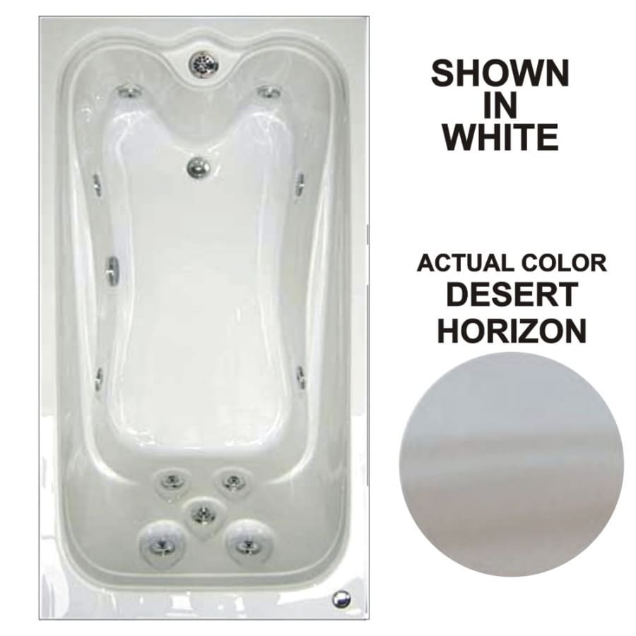 Watertech Whirlpool Baths Elite Desert Horizon Acrylic Rectangular Whirlpool Tub (Common: 42-in x 60-in; Actual: 21.88-in x 41.5-in x 59.75-in)