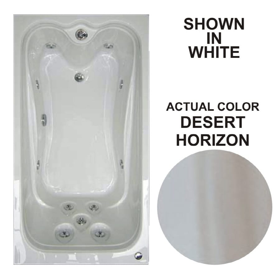 Watertech Whirlpool Baths Elite 59.625-in Desert Horizon Acrylic Drop-In Whirlpool Tub with Reversible Drain