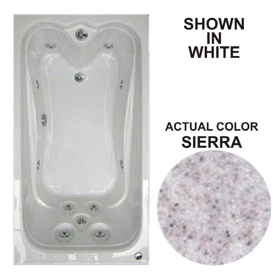 Watertech Whirlpool Baths Elite Sierra Acrylic Rectangular Whirlpool Tub (Common: 32-in x 60-in; Actual: 22.75-in x 31.625-in x 59.625-in)