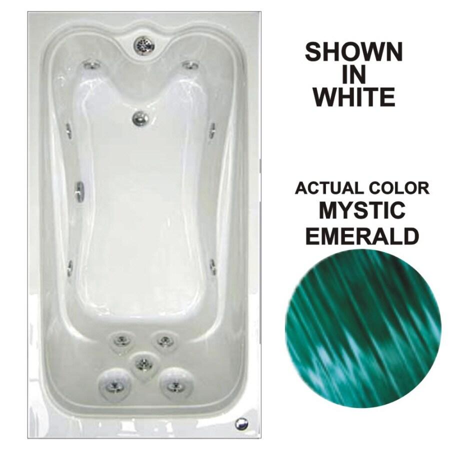 Watertech Whirlpool Baths Elite Mystic Emerald Acrylic Rectangular Whirlpool Tub (Common: 42-in x 60-in; Actual: 21.88-in x 41.5-in x 59.75-in)