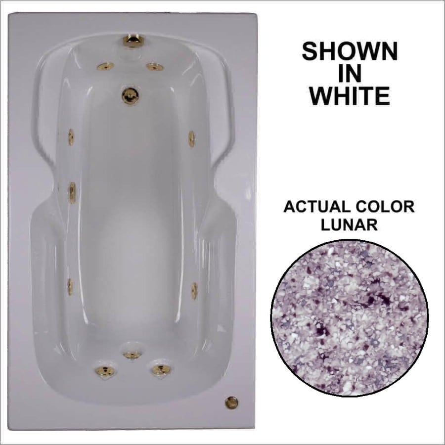 Watertech Whirlpool Baths 59.5-in Lunar Acrylic Drop-In Whirlpool Tub with Reversible Drain