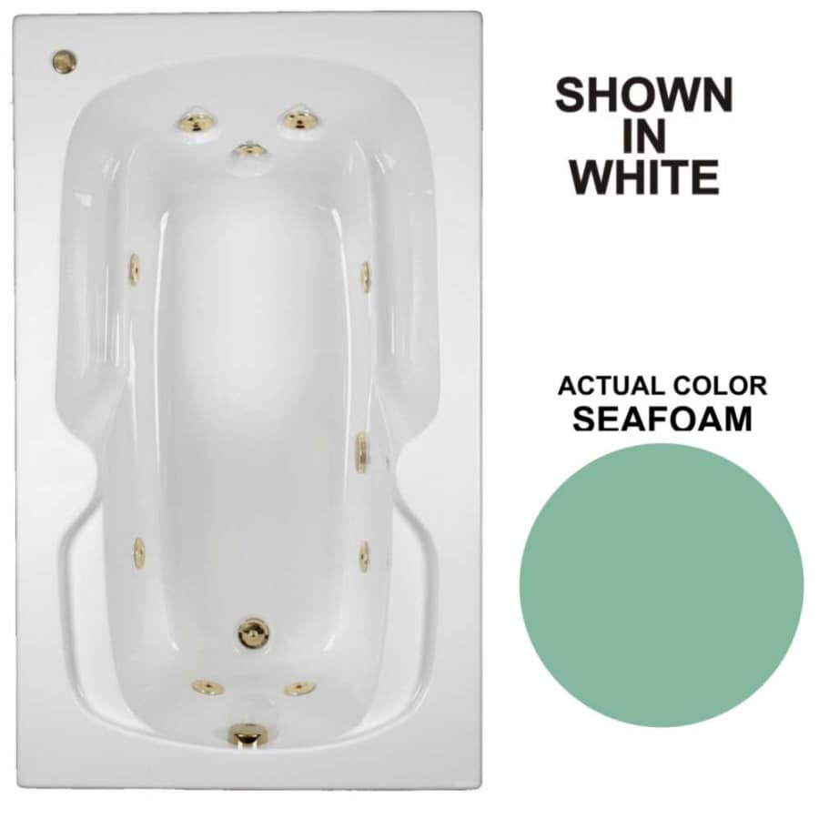 Watertech Whirlpool Baths Seafoam Acrylic Rectangular Whirlpool Tub (Common: 36-in x 60-in; Actual: 20-in x 35.75-in x 59.5-in)
