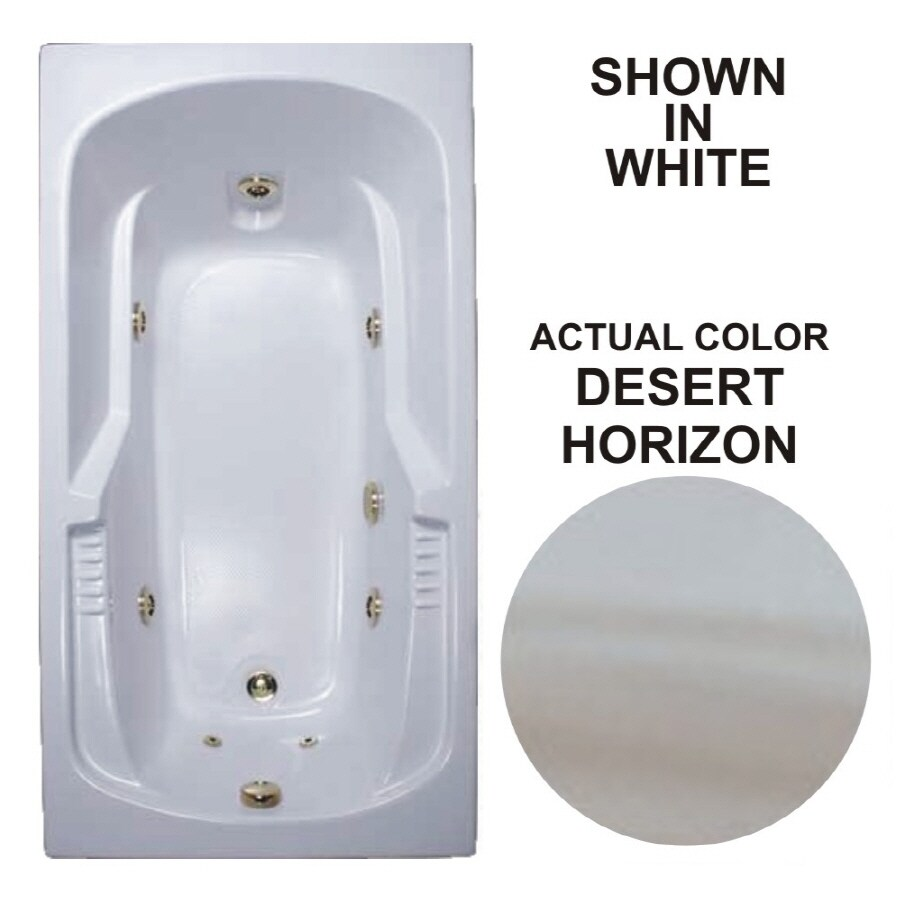 Watertech Whirlpool Baths Desert Horizon Acrylic Rectangular Whirlpool Tub (Common: 32-in x 60-in; Actual: 20-in x 31.5-in x 59.375-in)