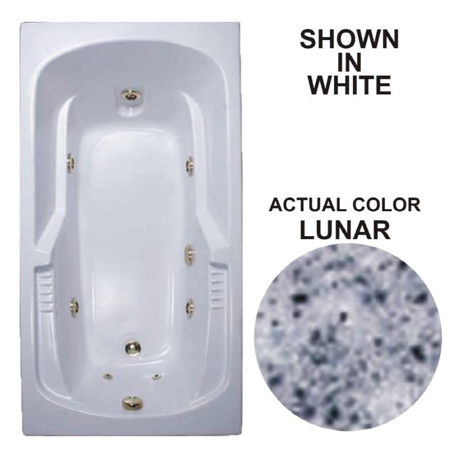 Watertech Whirlpool Baths Warertech 59.375-in Lunar Acrylic Drop-In Whirlpool Tub with Reversible Drain