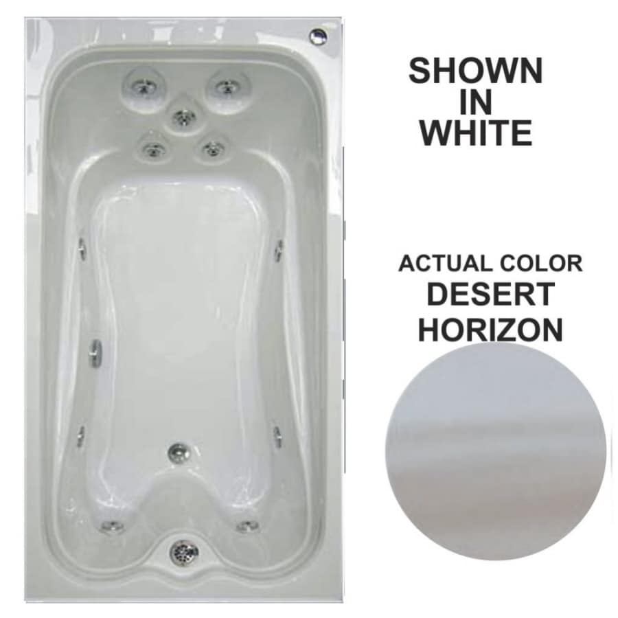 Watertech Whirlpool Baths Desert Horizon Acrylic Rectangular Whirlpool Tub (Common: 36-in x 72-in; Actual: 21.5-in x 36-in x 72-in)