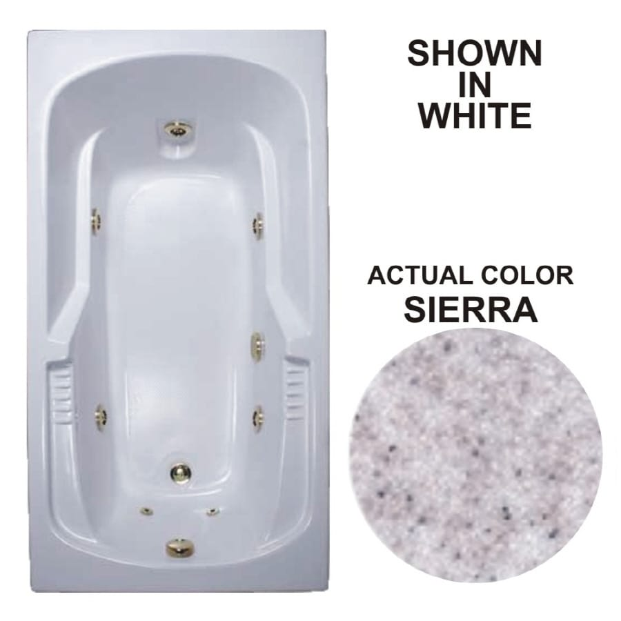 Watertech Whirlpool Baths Warertech 59.375-in Sierra Acrylic Drop-In Whirlpool Tub with Reversible Drain