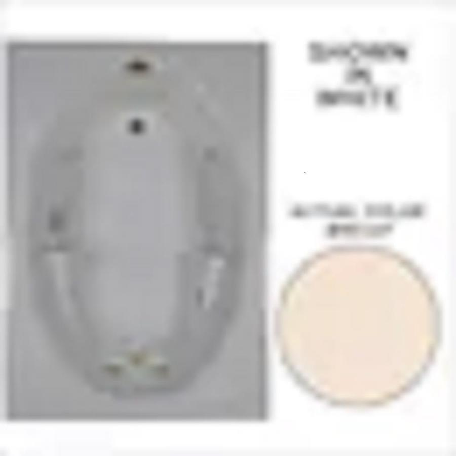 Watertech Whirlpool Baths Bone Acrylic Oval In Rectangle Whirlpool Tub (Common: 42-in x 60-in; Actual: 19-in x 41.5-in x 59.75-in)