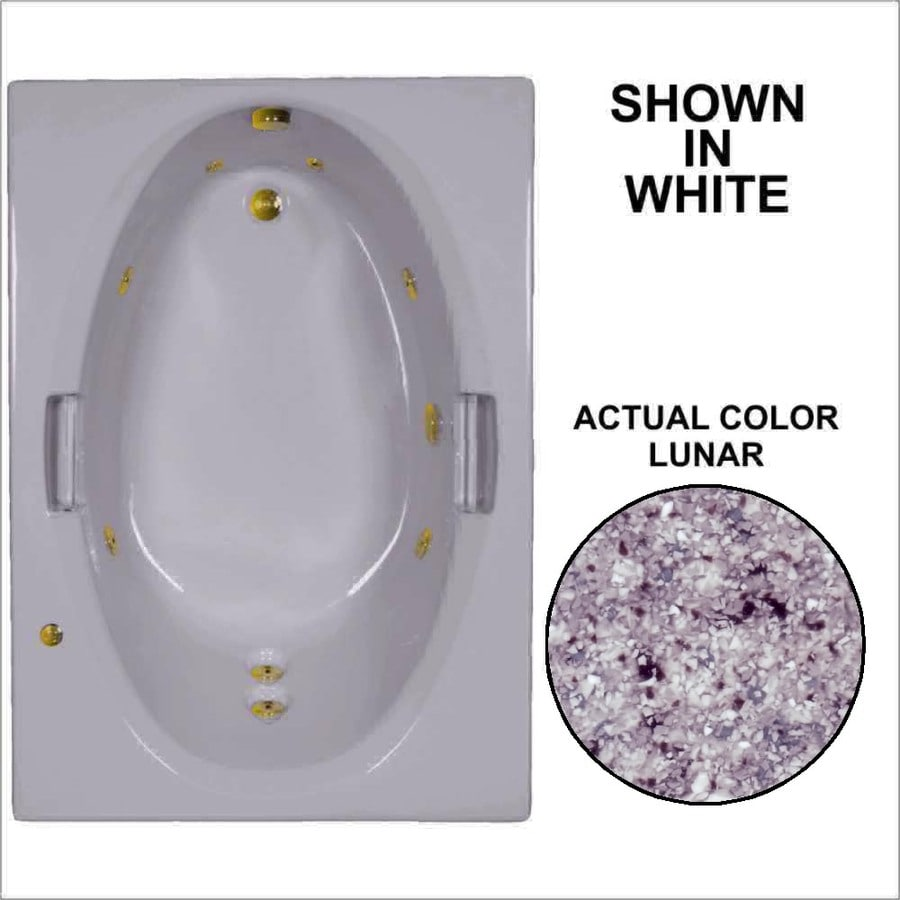 Watertech Whirlpool Baths 59.75-in Lunar Acrylic Drop-In Whirlpool Tub with Reversible Drain