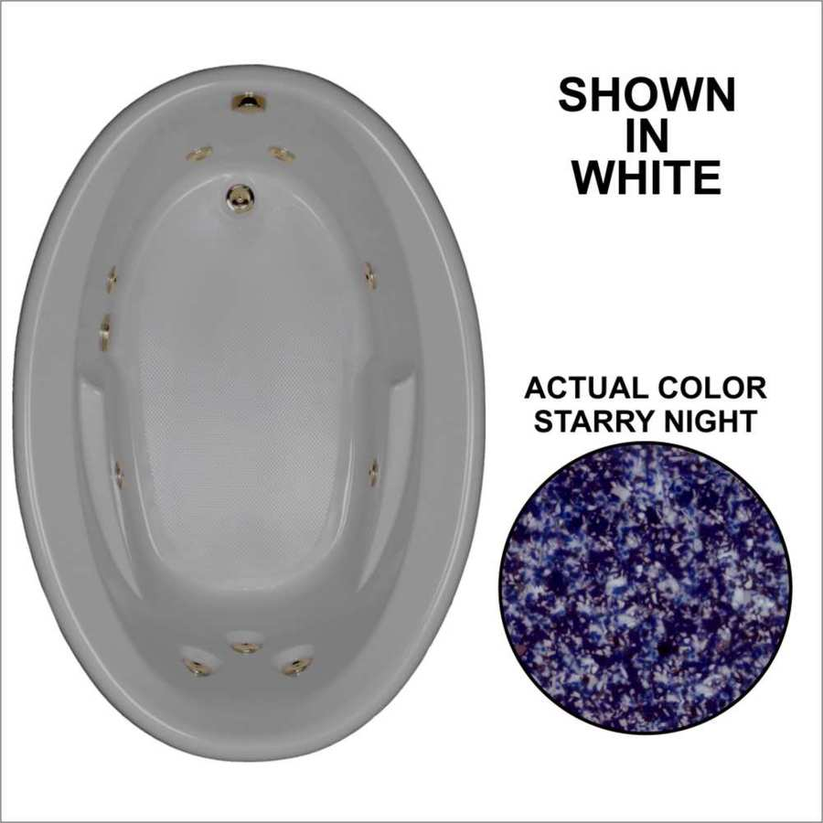 Watertech Whirlpool Baths 59.625-in Starry Night Acrylic Drop-In Whirlpool Tub with Reversible Drain