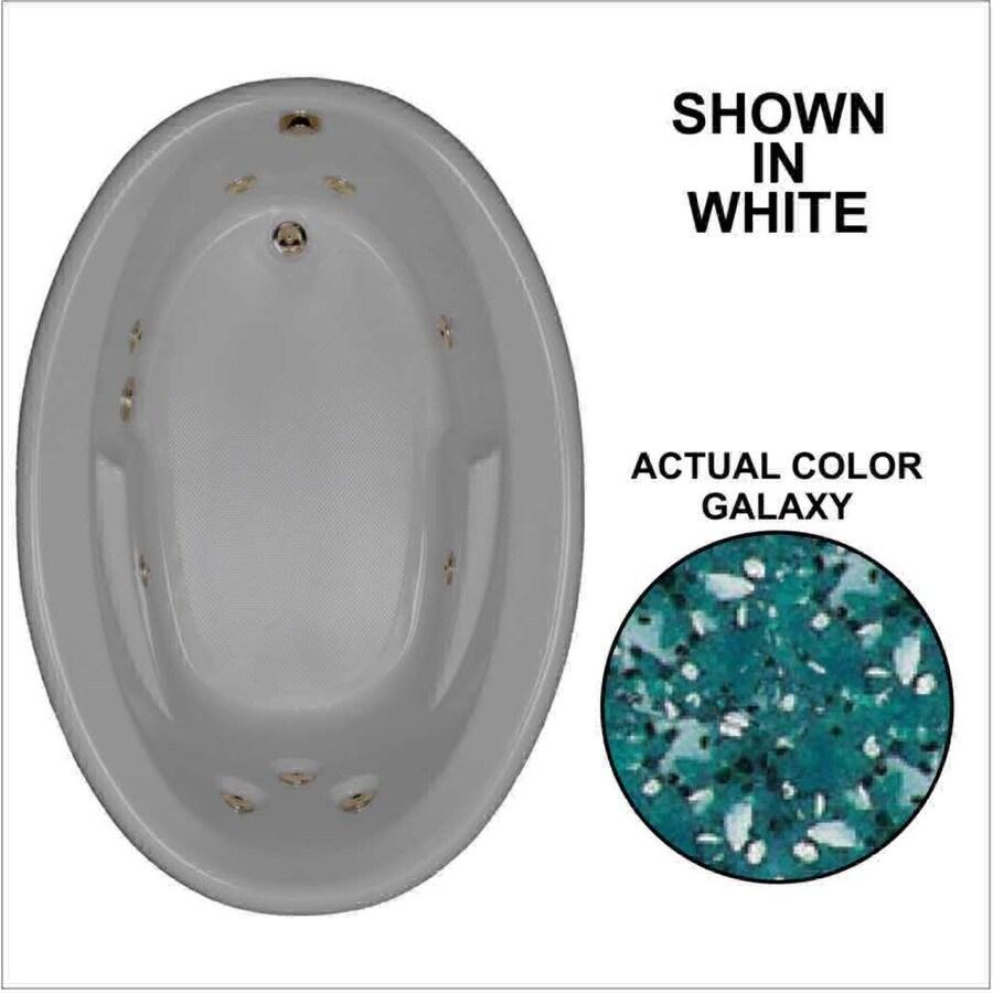 Watertech Whirlpool Baths 59.625-in Galaxy Acrylic Drop-In Whirlpool Tub with Reversible Drain