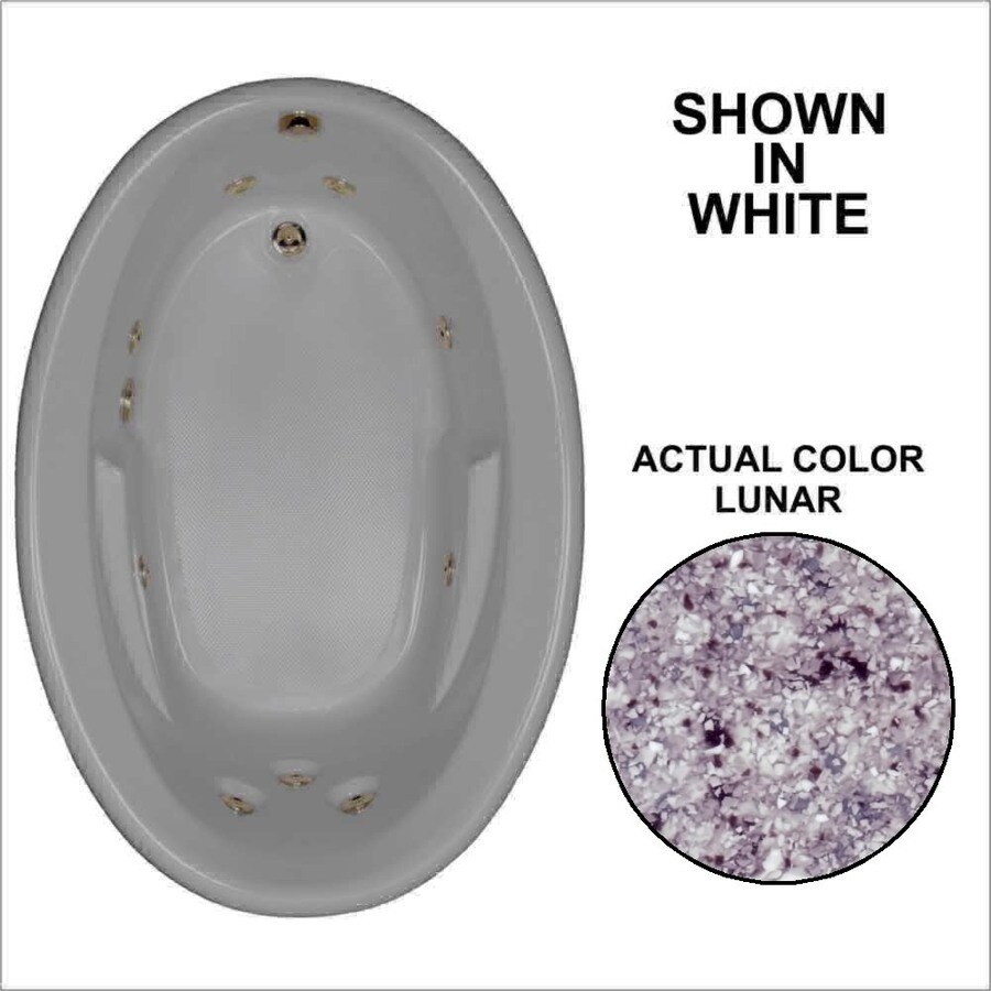 Watertech Whirlpool Baths 59.625-in Lunar Acrylic Drop-In Whirlpool Tub with Reversible Drain