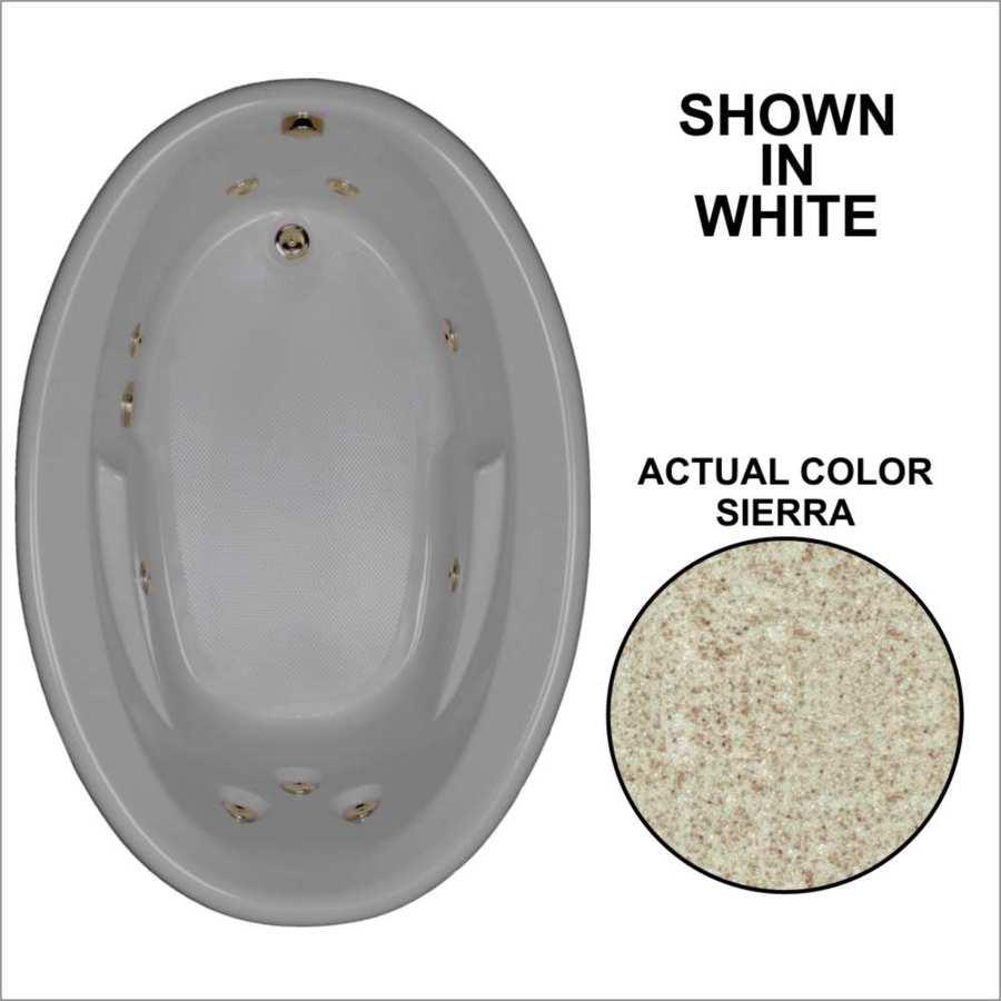Watertech Whirlpool Baths Sierra Acrylic Oval Whirlpool Tub (Common: 42-in x 60-in; Actual: 19.5-in x 41.5-in x 59.625-in)
