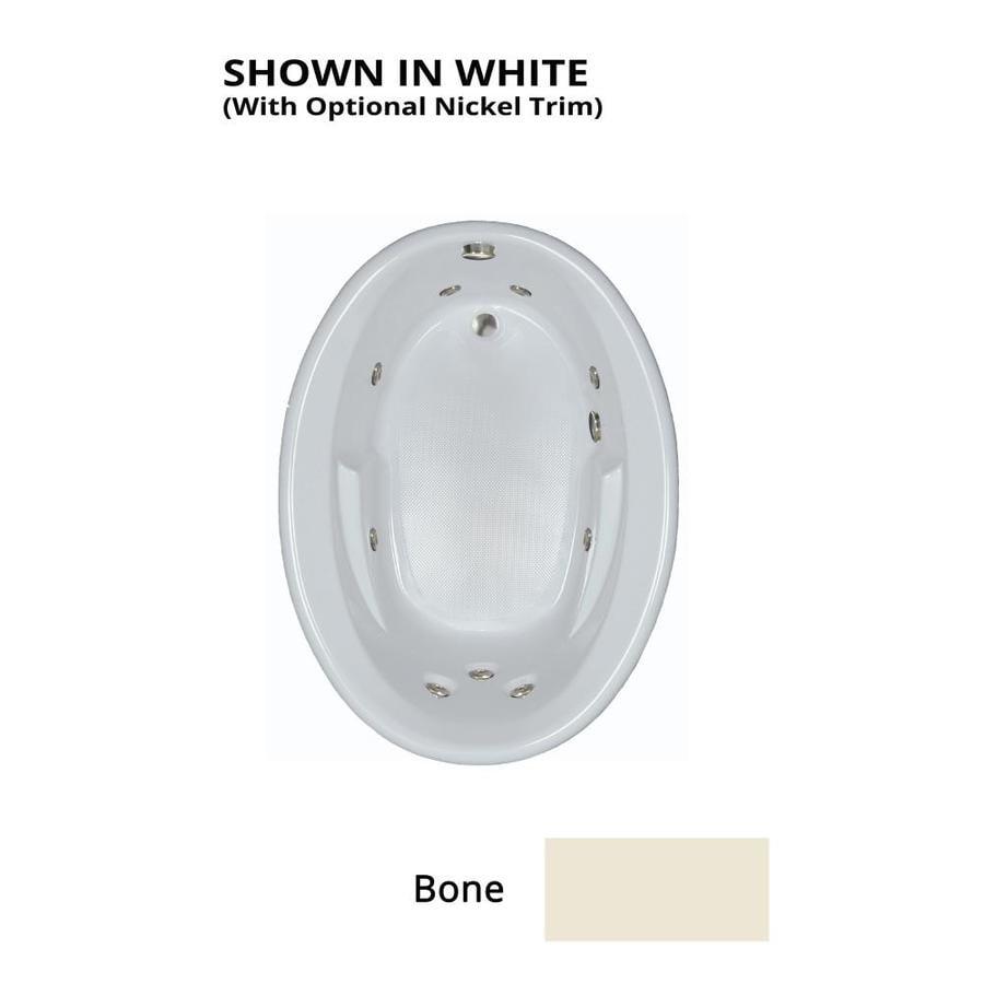 Watertech Whirlpool Baths 59.625-in Bone Acrylic Drop-In Whirlpool Tub with Reversible Drain