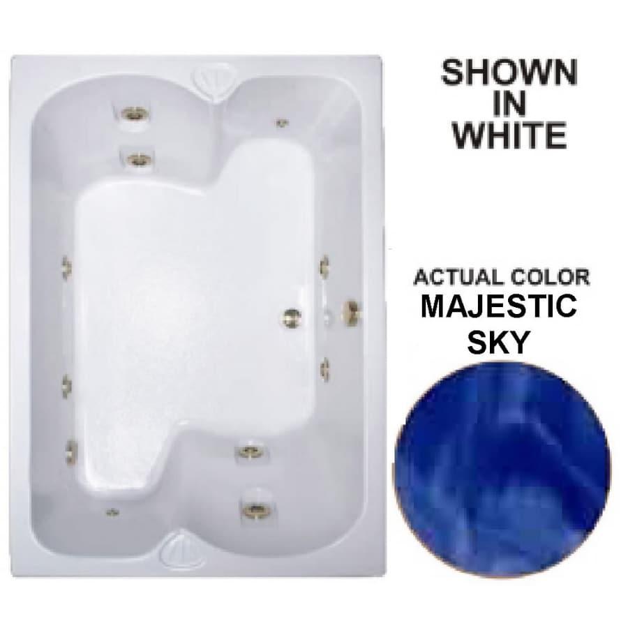 Watertech Whirlpool Baths Warertech 2-Person Majestic Sky Acrylic Rectangular Whirlpool Tub (Common: 43-in x 60-in; Actual: 23.25-in x 42.75-in x 59.75-in)