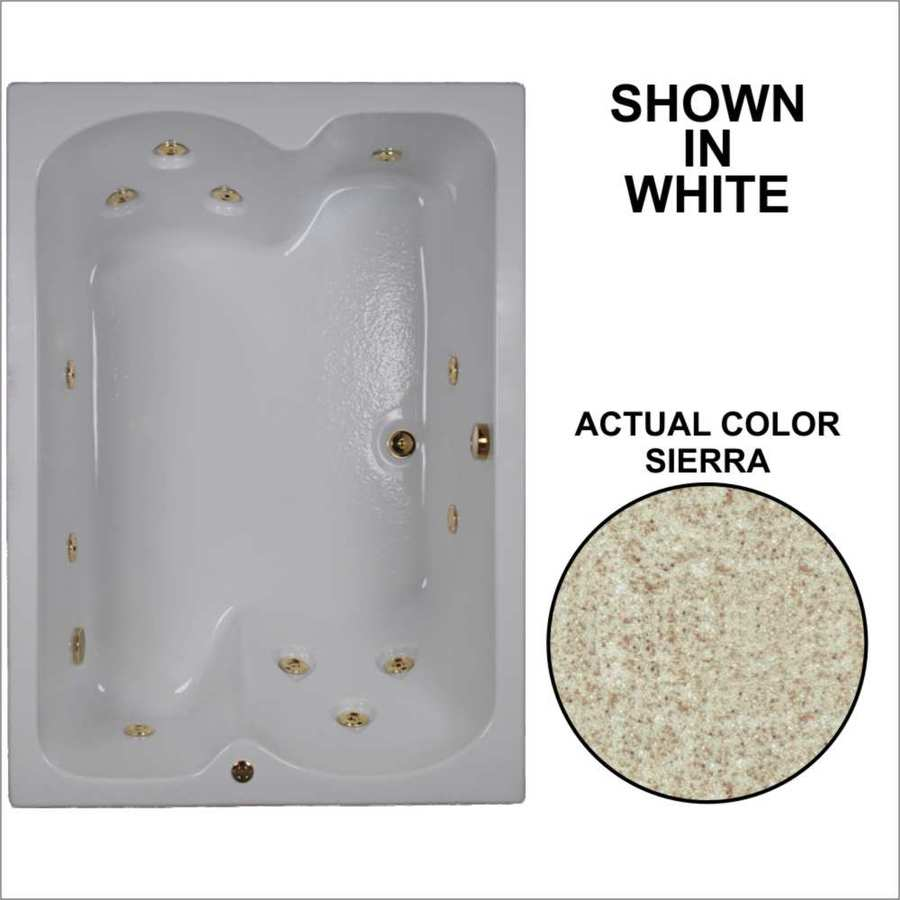 Watertech Whirlpool Baths 59.75-in Sierra Acrylic Drop-In Whirlpool Tub with Reversible Drain