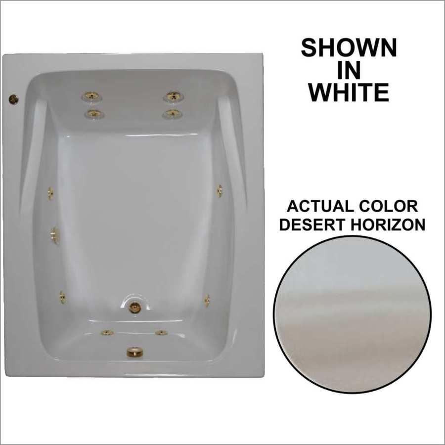 Watertech Whirlpool Baths 2-Person Desert Horizon Acrylic Rectangular Whirlpool Tub (Common: 48-in x 60-in; Actual: 23-in x 47.75-in x 59.75-in)