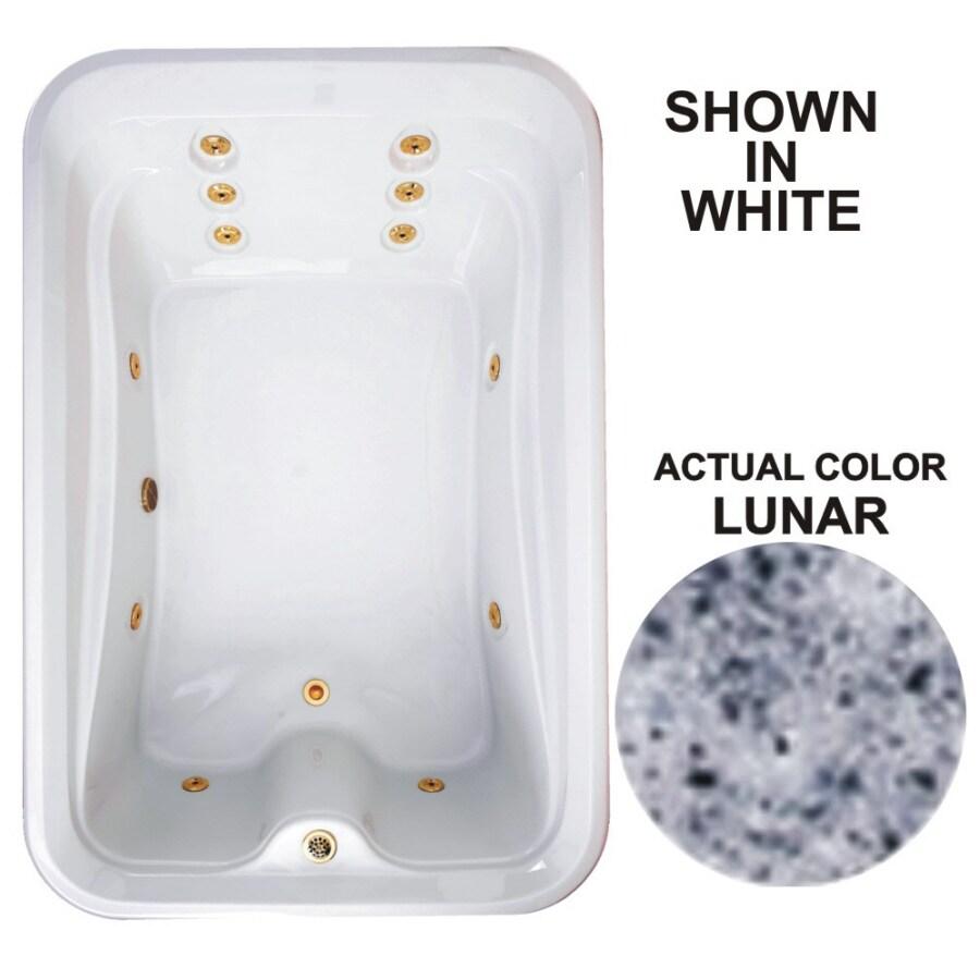 Watertech Whirlpool Baths Elite 72-in Lunar Acrylic Drop-In Whirlpool Tub with Reversible Drain