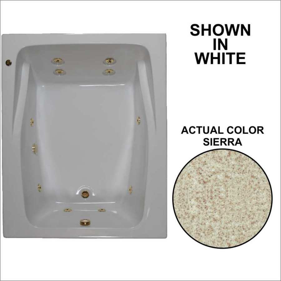 Watertech Whirlpool Baths 2-Person Sierra Acrylic Rectangular Whirlpool Tub (Common: 48-in x 60-in; Actual: 23-in x 47.75-in x 59.75-in)