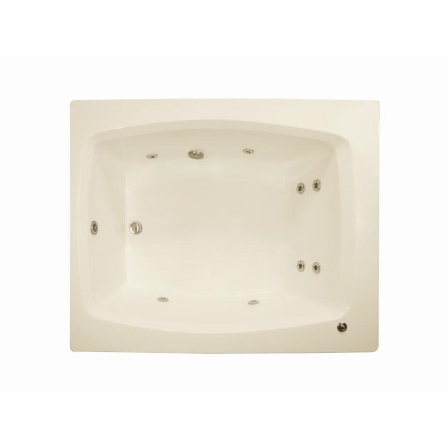 Watertech Whirlpool Baths 2-Person Biscuit Acrylic Rectangular Whirlpool Tub (Common: 48-in x 60-in; Actual: 23-in x 47.75-in x 59.75-in)