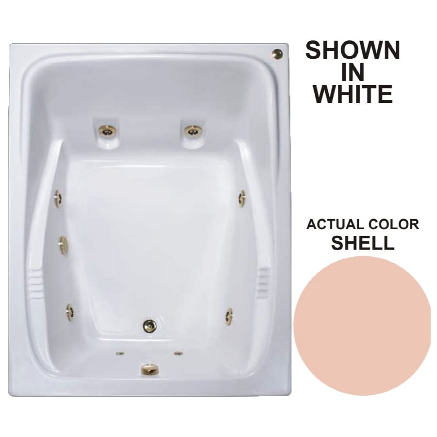 Watertech Whirlpool Baths Warertech 2-Person Shell Acrylic Rectangular Whirlpool Tub (Common: 48-in x 60-in; Actual: 23-in x 47.75-in x 59.75-in)