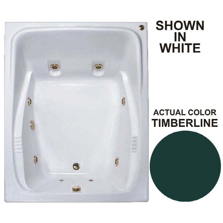 Watertech Whirlpool Baths Warertech 2-Person Timberline Acrylic Rectangular Whirlpool Tub (Common: 48-in x 60-in; Actual: 23-in x 47.75-in x 59.75-in)