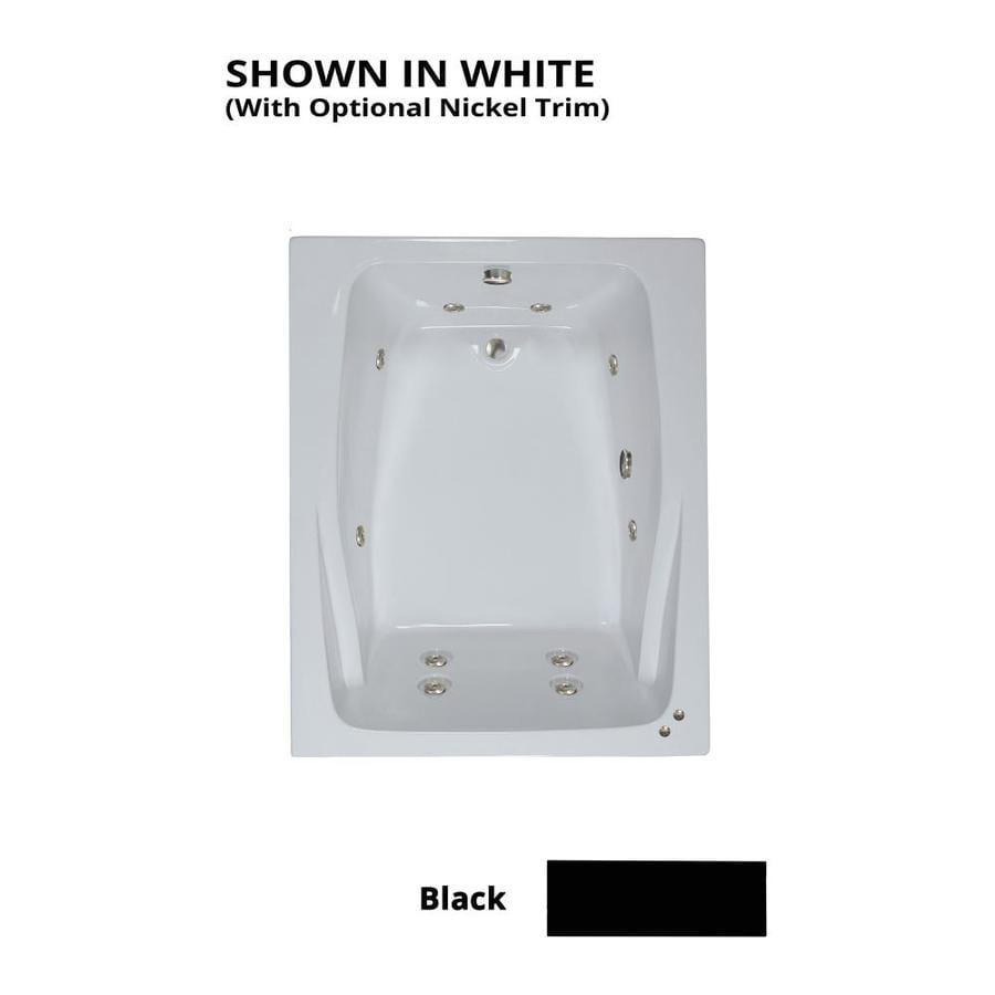 Watertech Whirlpool Baths 2-Person Black Acrylic Rectangular Whirlpool Tub (Common: 48-in x 60-in; Actual: 23-in x 47.75-in x 59.75-in)