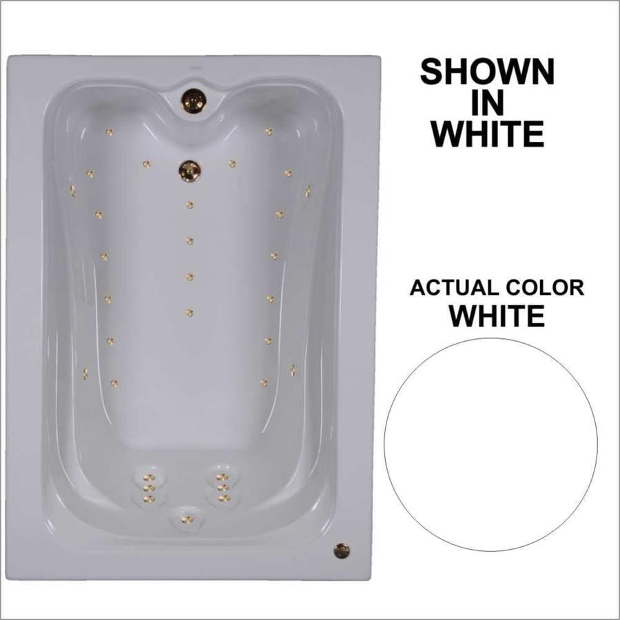 Watertech Whirlpool Baths Elite 59.75-in Sierra Acrylic Drop-In Whirlpool Tub with Reversible Drain