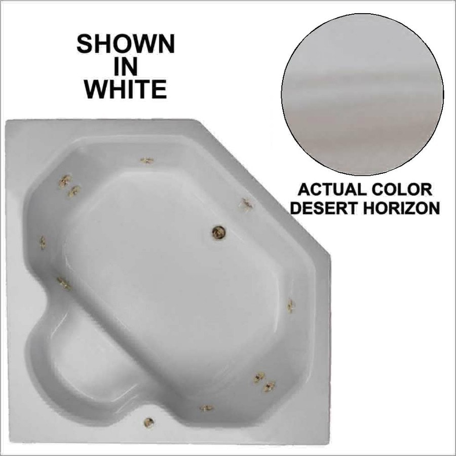Watertech Whirlpool Baths 60-in Desert Horizon Acrylic Drop-In Whirlpool Tub with Reversible Drain