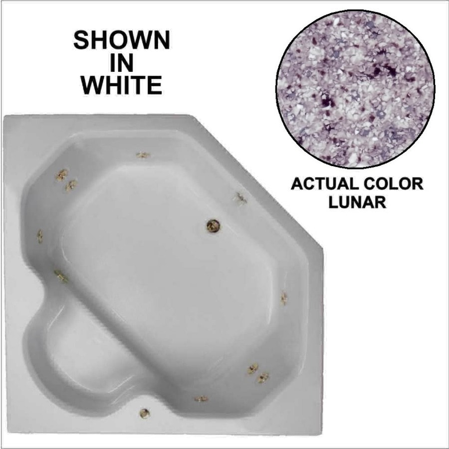 Watertech Whirlpool Baths 2-Person Lunar Acrylic Corner Whirlpool Tub (Common: 60-in x 60-in; Actual: 20-in x 60-in x 60-in)
