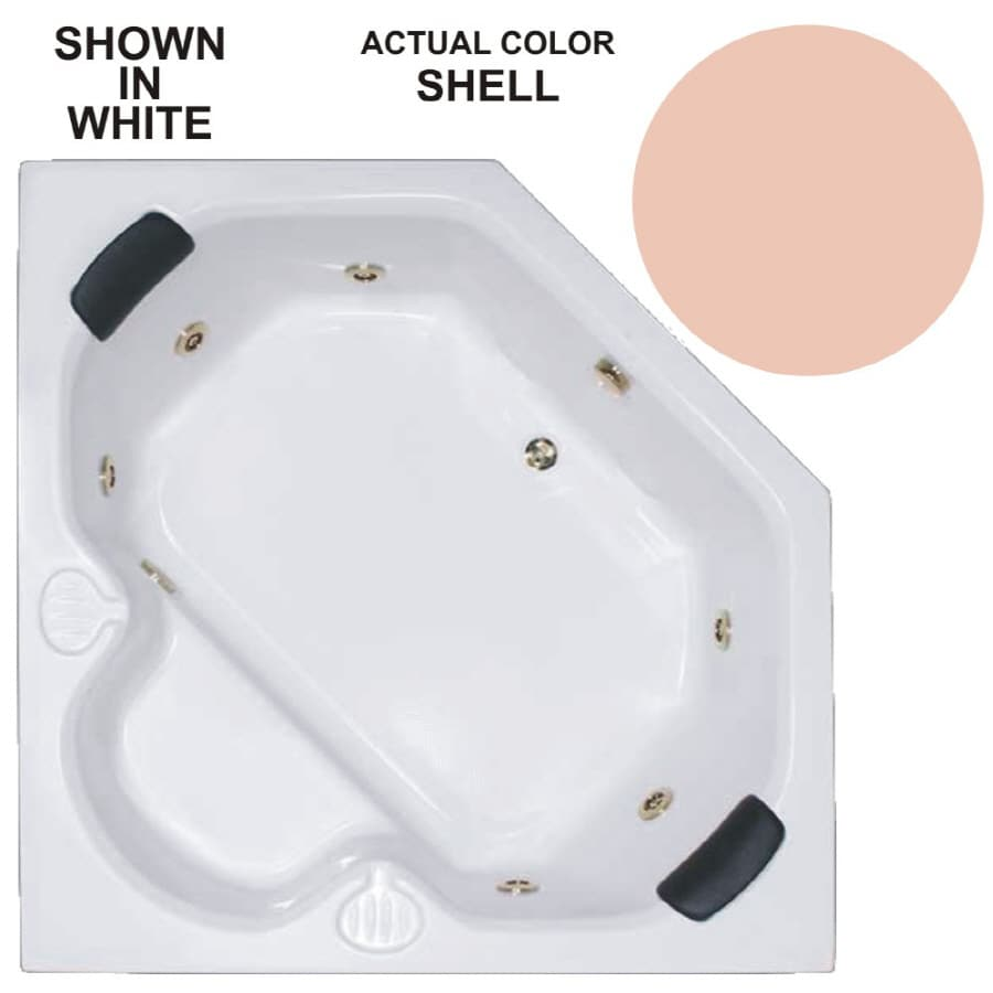 Watertech Whirlpool Baths Warertech 60-in Shell Acrylic Drop-In Whirlpool Tub with Reversible Drain