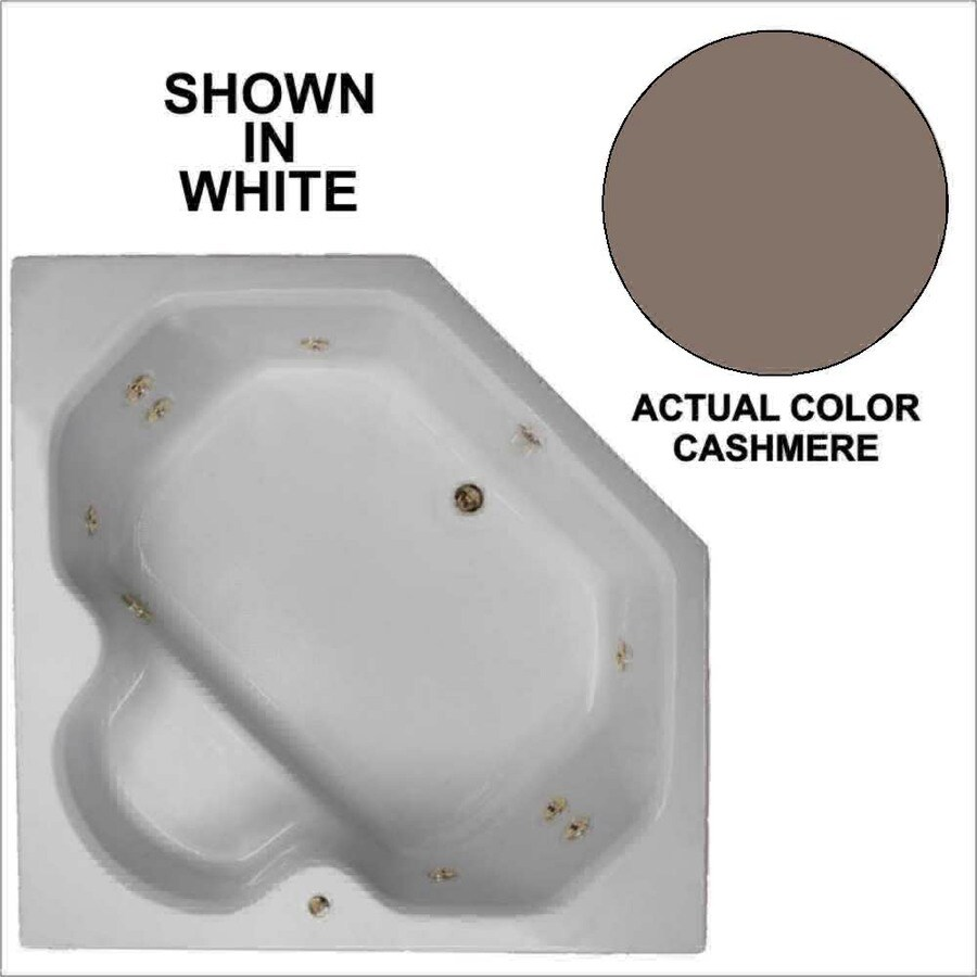 Watertech Whirlpool Baths 60-in Cashmere Acrylic Drop-In Whirlpool Tub with Reversible Drain