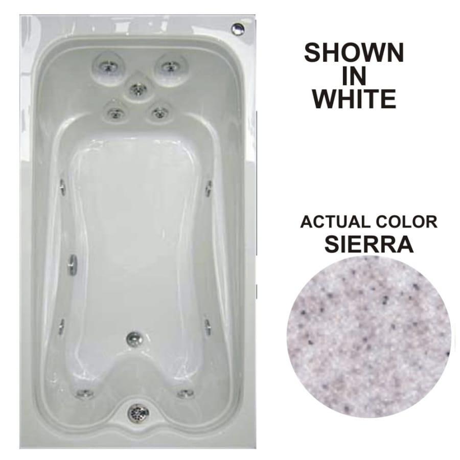 Watertech Whirlpool Baths Warertech Sierra Acrylic Rectangular Whirlpool Tub (Common: 36-in x 72-in; Actual: 21.5-in x 36-in x 72-in)