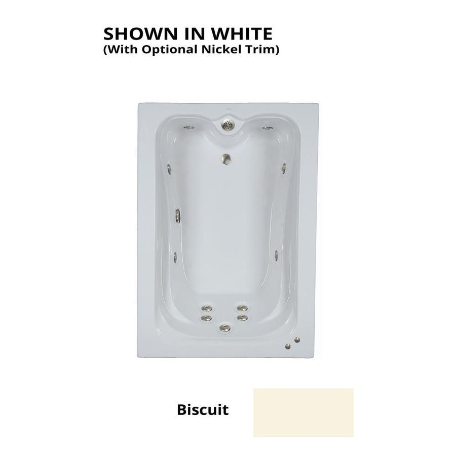 Watertech Whirlpool Baths Elite Biscuit Acrylic Rectangular Whirlpool Tub (Common: 42-in x 60-in; Actual: 21.88-in x 41.5-in x 59.75-in)