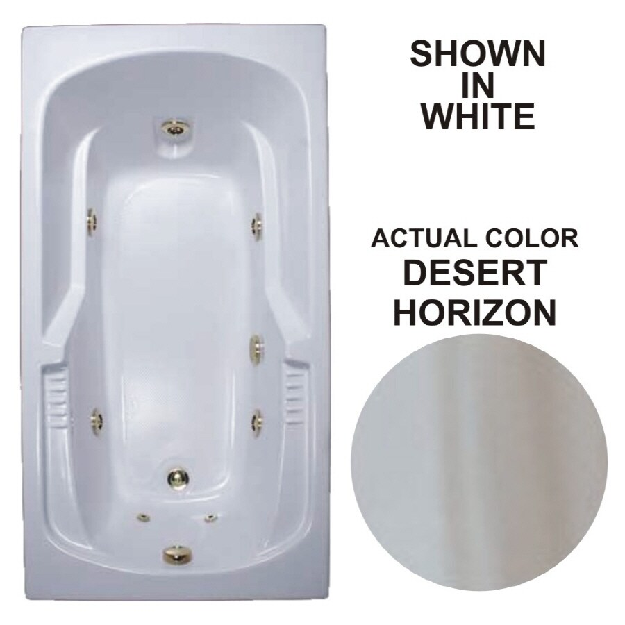 Watertech Whirlpool Baths 72-in Desert Horizon Acrylic Drop-In Whirlpool Tub with Reversible Drain