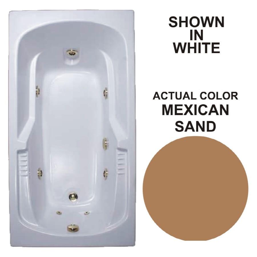 Watertech Whirlpool Baths Warertech Mexican Sand Acrylic Rectangular Whirlpool Tub (Common: 36-in x 72-in; Actual: 20-in x 36-in x 72-in)