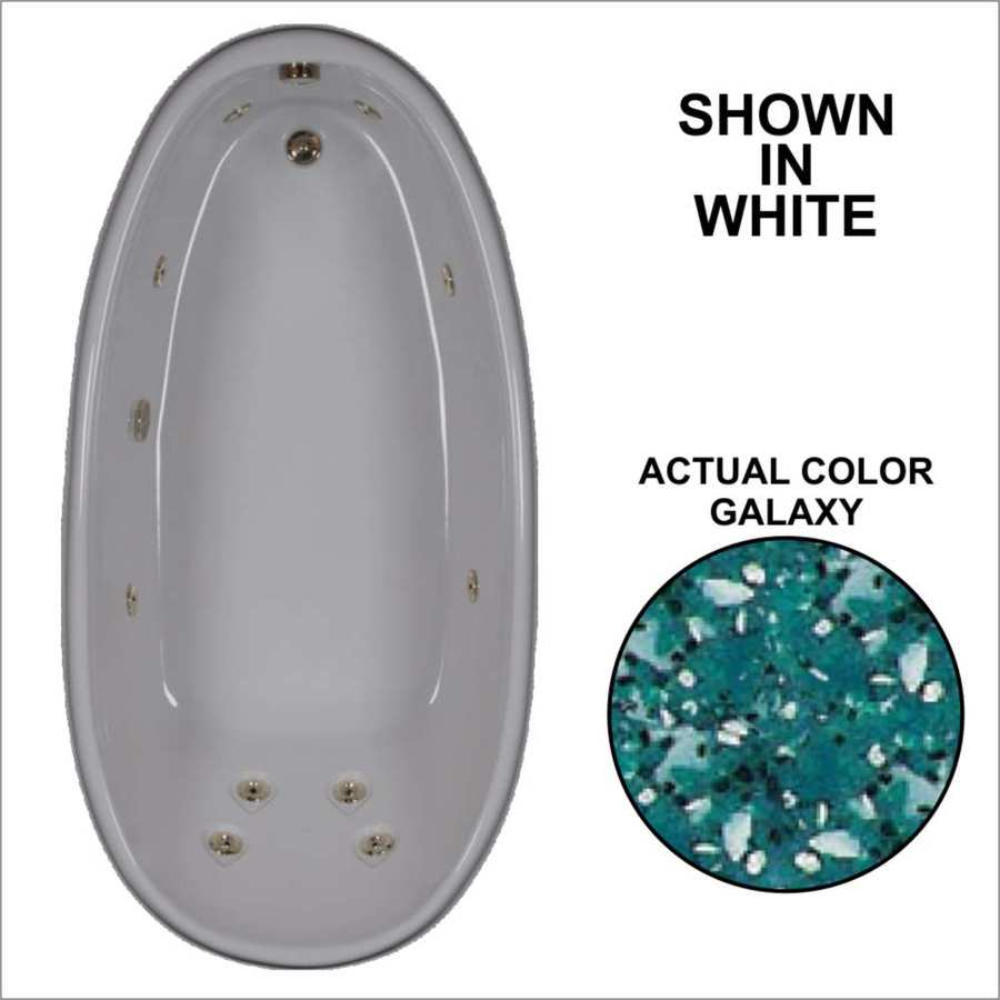 Watertech Whirlpool Baths Designer Galaxy Acrylic Oval Whirlpool Tub (Common: 36-in x 72-in; Actual: 22-in x 36-in x 72-in)