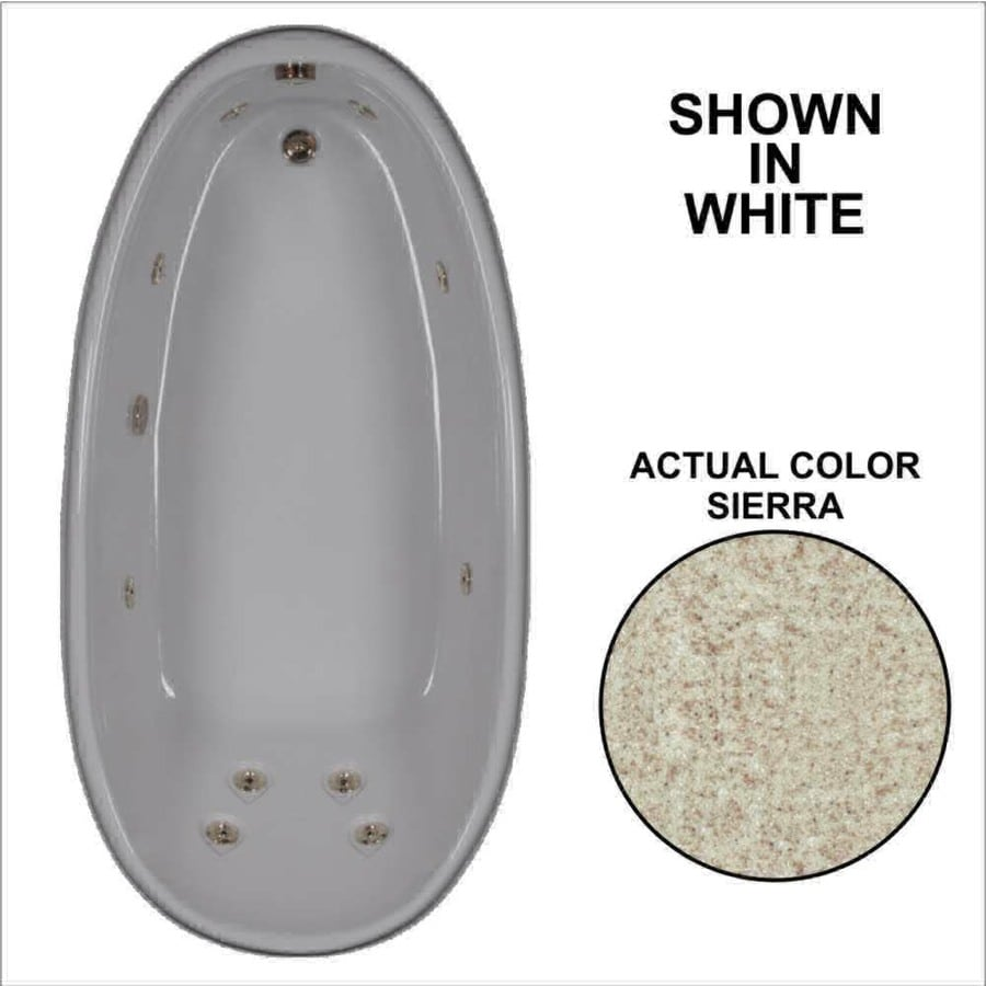 Watertech Whirlpool Baths Designer 72-in Sierra Acrylic Drop-In Whirlpool Tub with Reversible Drain