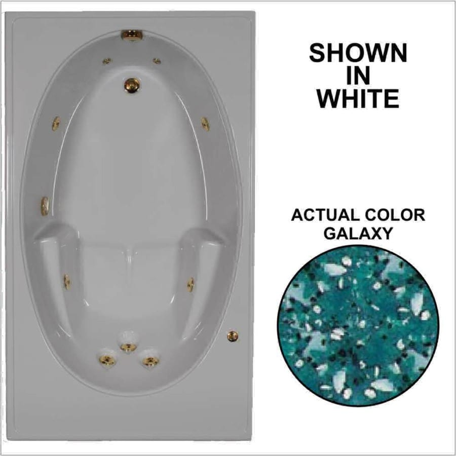 Watertech Whirlpool Baths 59.75-in Galaxy Acrylic Drop-In Whirlpool Tub with Reversible Drain