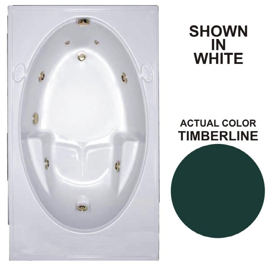 Watertech Whirlpool Baths Warertech Timberline Acrylic Rectangular Whirlpool Tub (Common: 42-in x 72-in; Actual: 19-in x 41.5-in x 59.75-in)