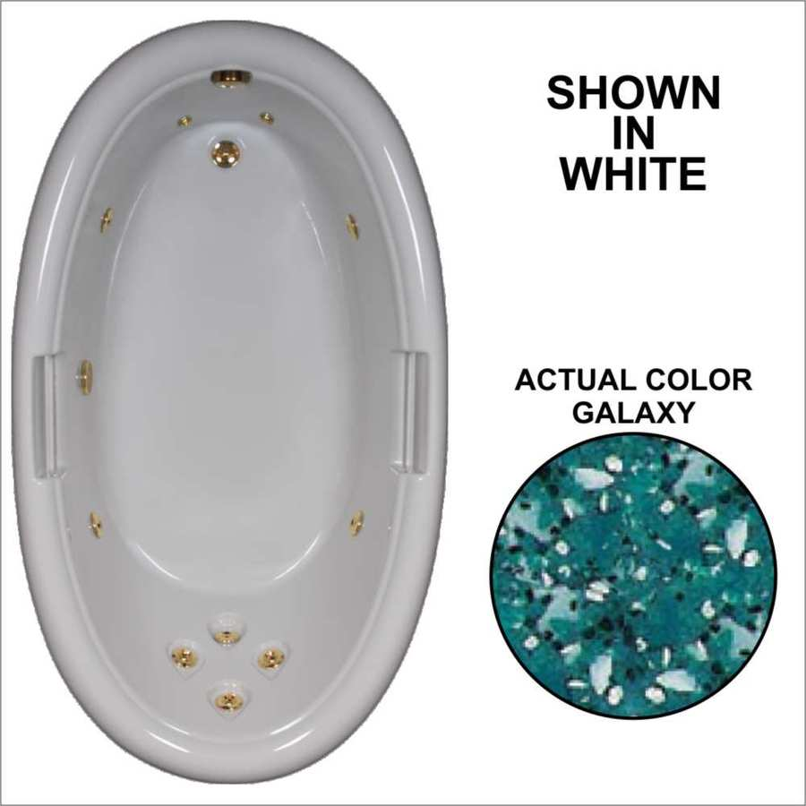Watertech Whirlpool Baths Designer 71.25-in Galaxy Acrylic Drop-In Whirlpool Tub with Reversible Drain
