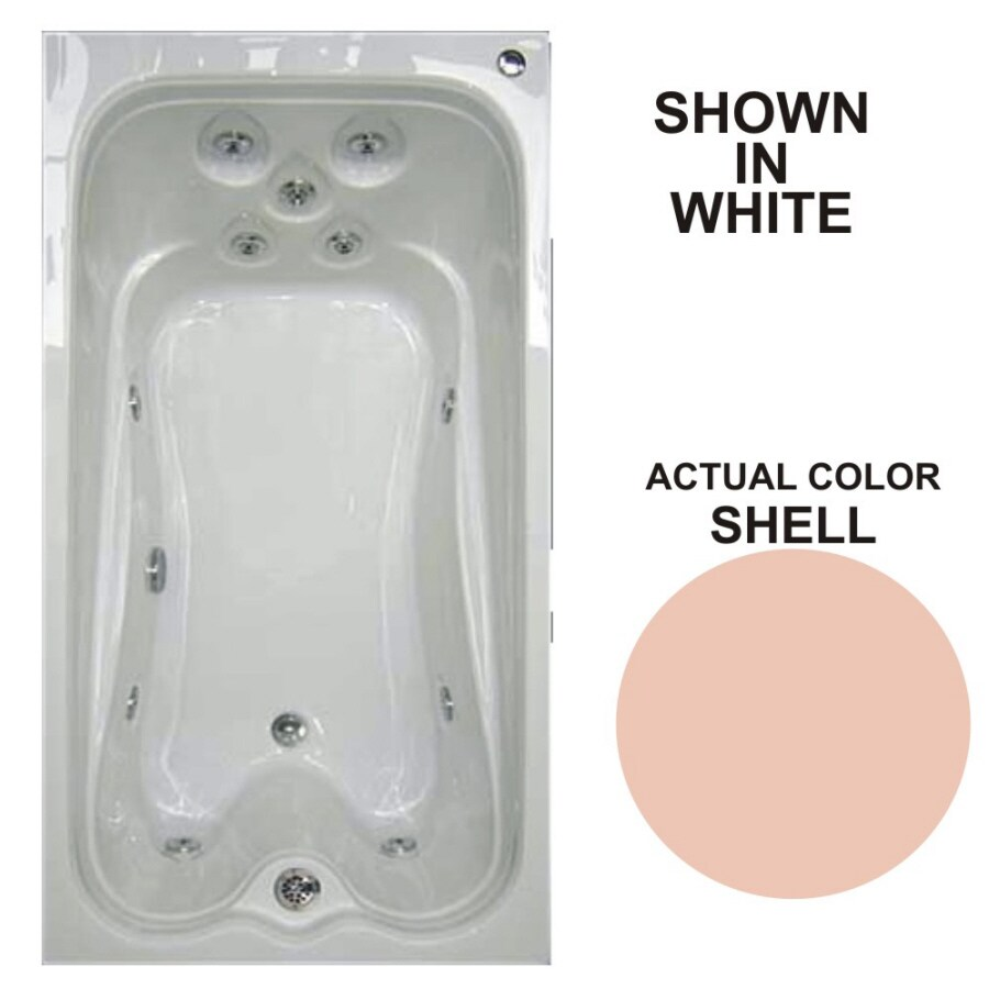 Watertech Whirlpool Baths Warertech Shell Acrylic Rectangular Whirlpool Tub (Common: 36-in x 72-in; Actual: 21.5-in x 36-in x 72-in)