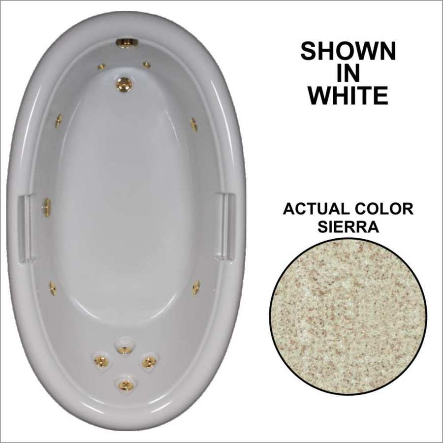 Watertech Whirlpool Baths Designer Sierra Acrylic Oval Whirlpool Tub (Common: 42-in x 72-in; Actual: 21.25-in x 40.5-in x 71.25-in)