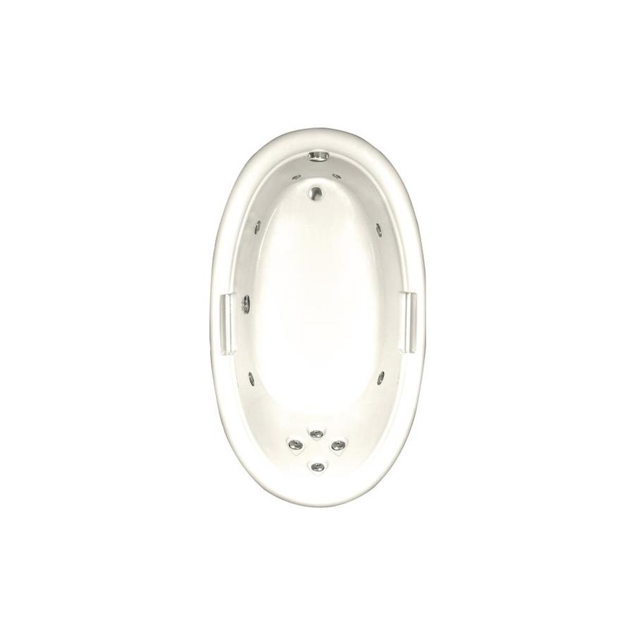 Watertech Whirlpool Baths Designer Biscuit Acrylic Oval Whirlpool Tub (Common: 42-in x 72-in; Actual: 21.25-in x 40.5-in x 71.25-in)
