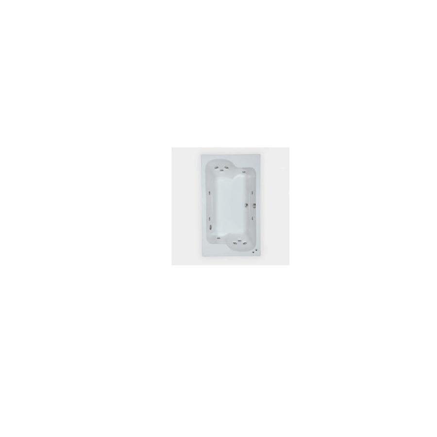 Watertech Whirlpool Baths Designer 72.625-in Biscuit Acrylic Drop-In Whirlpool Tub with Reversible Drain