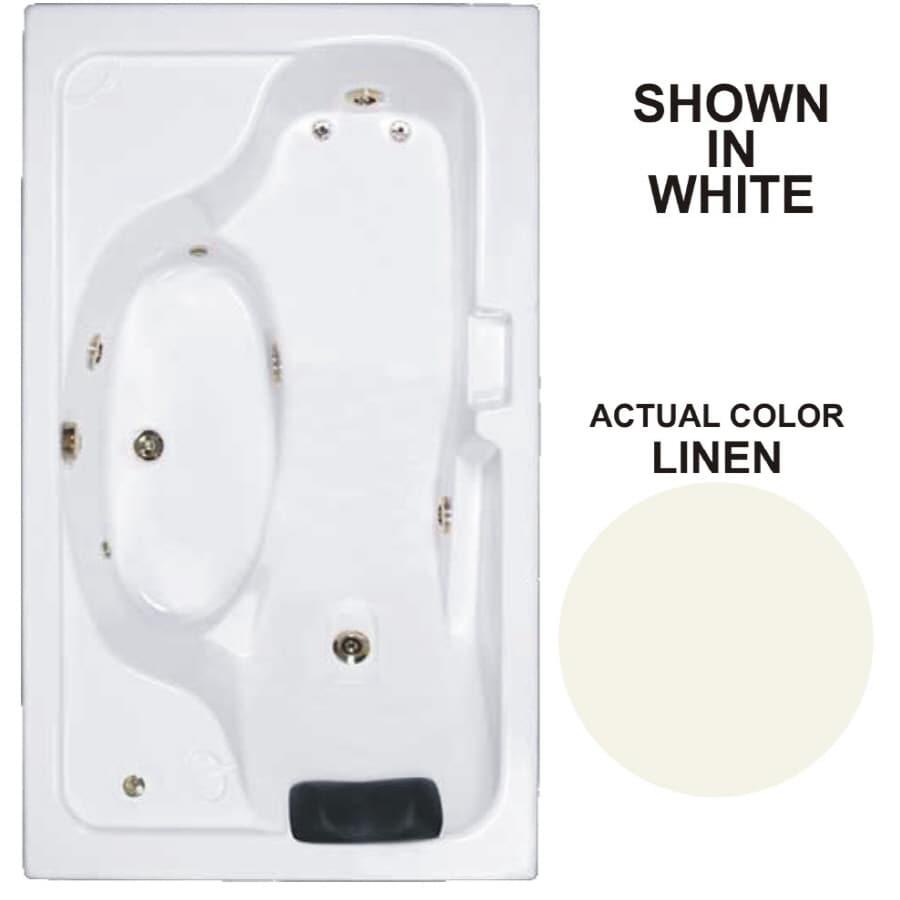Watertech Whirlpool Baths Designer Linen Acrylic Rectangular Whirlpool Tub (Common: 42-in x 72-in; Actual: 22-in x 41.75-in x 72.625-in)