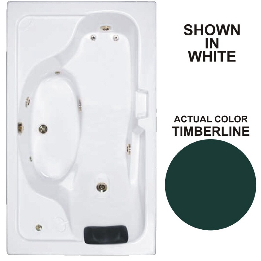 Watertech Whirlpool Baths Designer Timberline Acrylic Rectangular Whirlpool Tub (Common: 42-in x 72-in; Actual: 22-in x 41.75-in x 72.625-in)